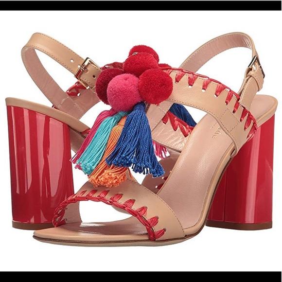 383298568ff6 kate spade Shoes - Kate Spade NY Central Fringe and Pom Heels